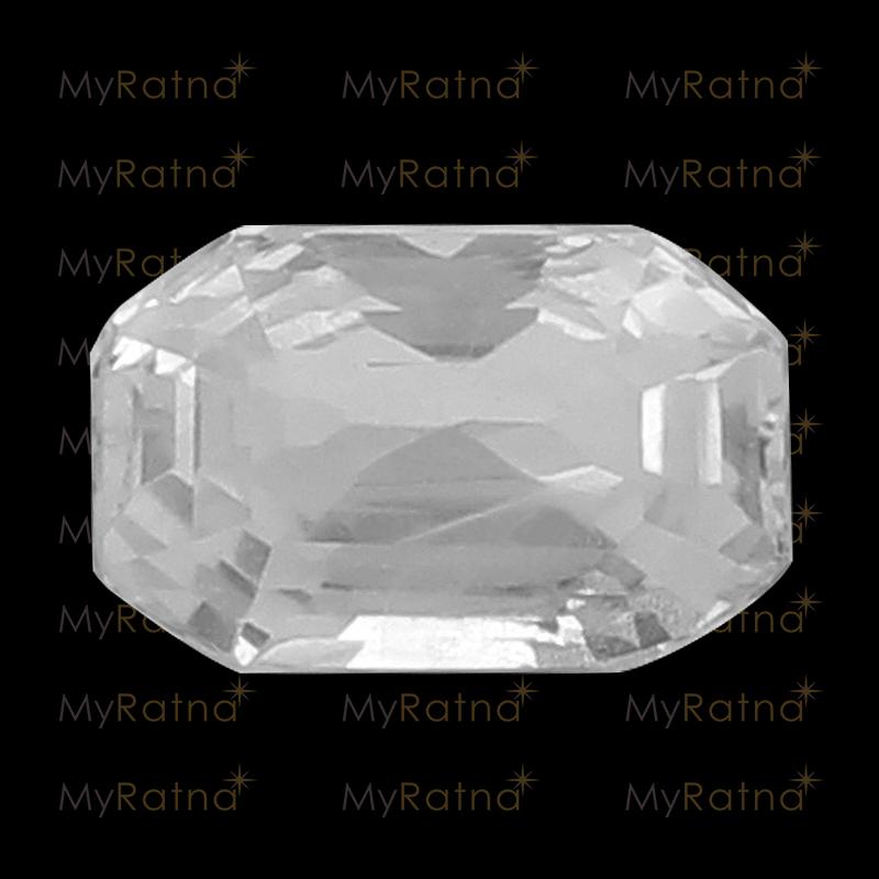 Natural White Sapphire (Pukhraj) Gemstone 3.91 Ct (Ceylon) - Prime - MyRatna