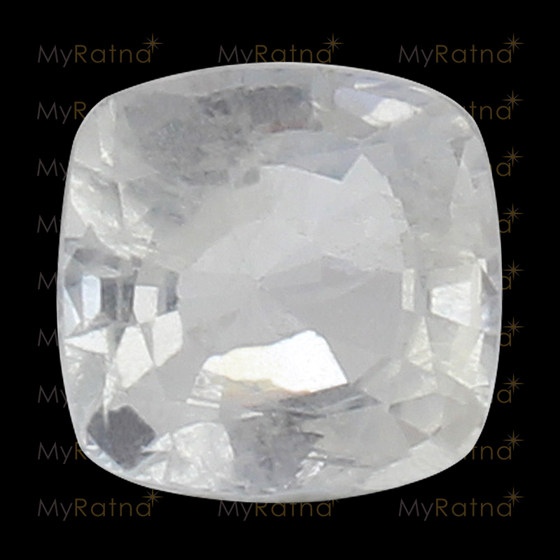 Natural White Sapphire (Pukhraj) Gemstone 4.31 Ct (Ceylon) - Fine - MyRatna