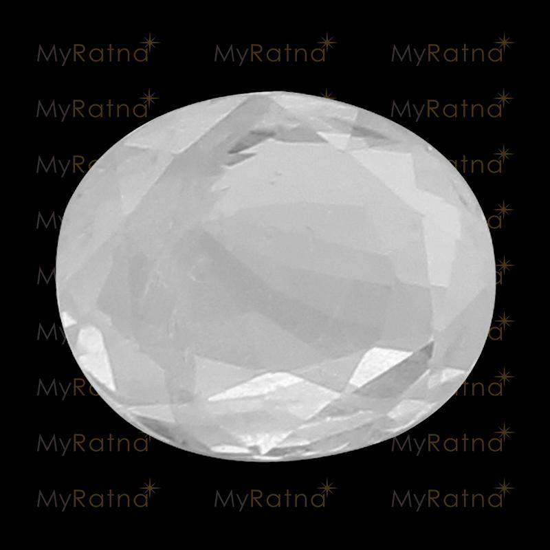 Natural White Sapphire (Pukhraj) Gemstone 5.53 Ct (Ceylon) - Fine - MyRatna