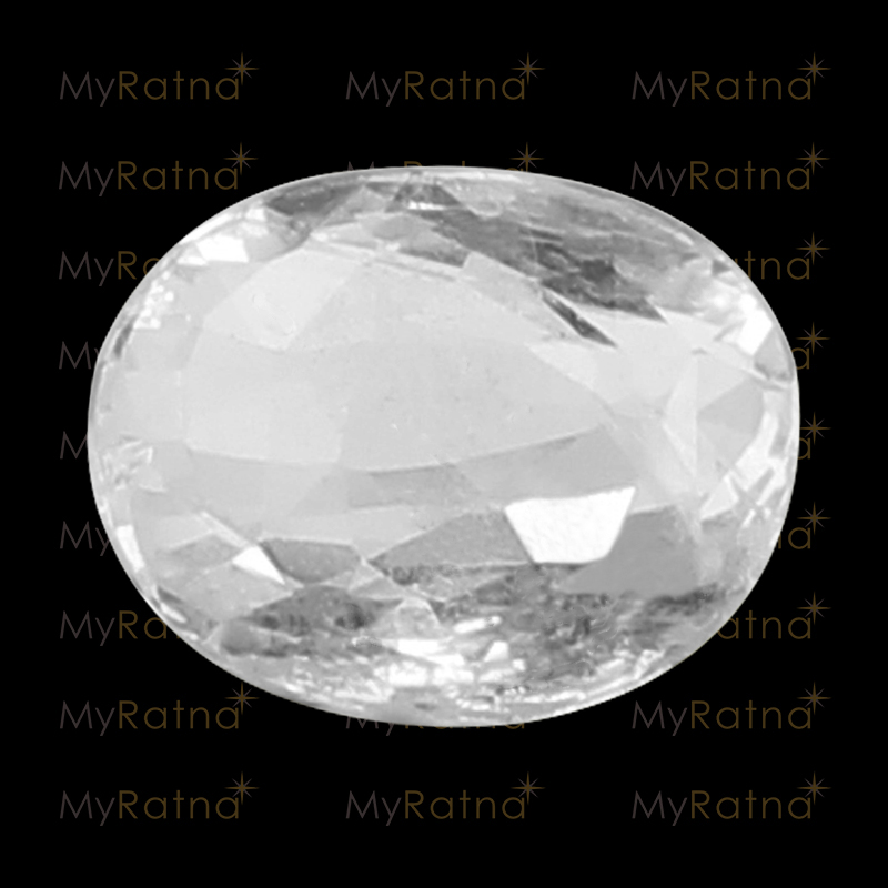 Natural White Sapphire (Pukhraj) Gemstone 3.11 Ct (Ceylon) - Fine - MyRatna
