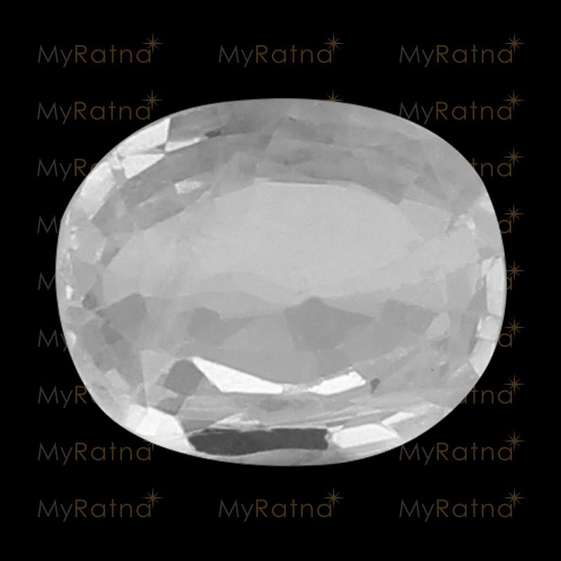 Natural White Sapphire (Pukhraj) Gemstone 3.92 Ct (Ceylon) - Fine - MyRatna
