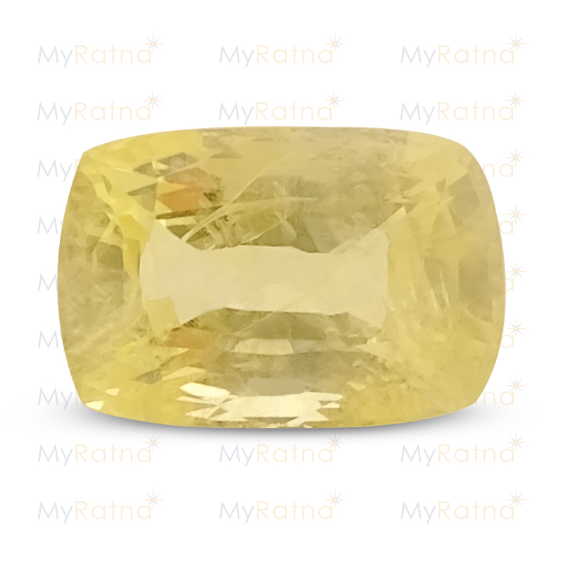 Certified Natural Yellow Sapphire 8.2 Ct (Ceylon) - Limited - MyRatna