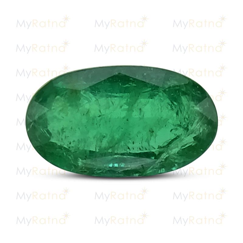 Certified Natural Emerald 2.94 Ct (Zambia) - Prime - MyRatna