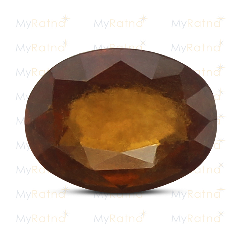 Certified Natural Hessonite Garnet 3.92 Ct (Africa) - Fine - MyRatna