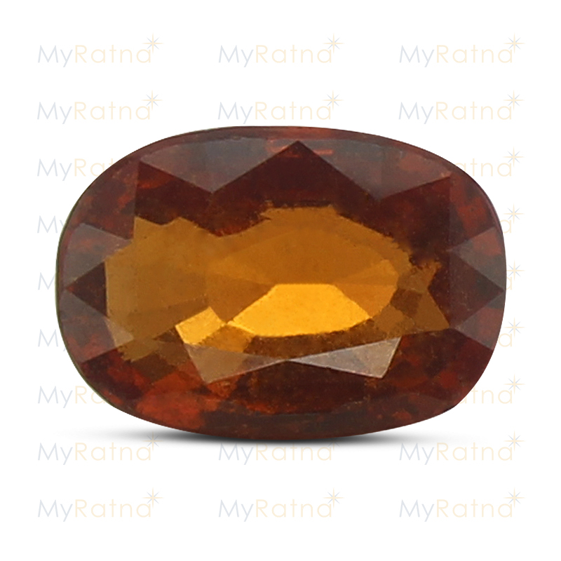 Certified Natural Hessonite Garnet 3.5 Ct (Africa) - Fine - MyRatna