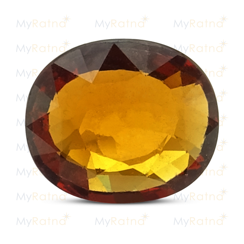 Certified Natural Hessonite Garnet 3.52 Ct (Africa) - Fine - MyRatna