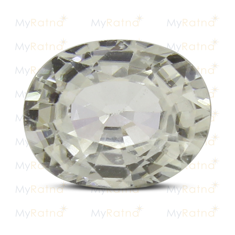 Certified Natural White Zircon 3.8 Ct (Ceylon) - Limited - MyRatna