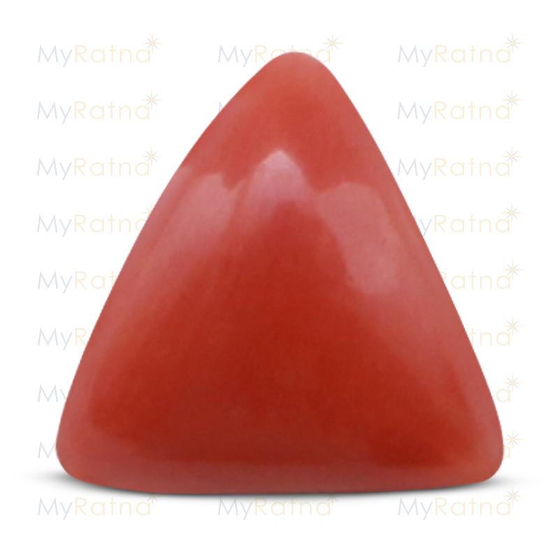 Certified Natural Red Coral 4.89 Ct (Italy) - Prime - MyRatna