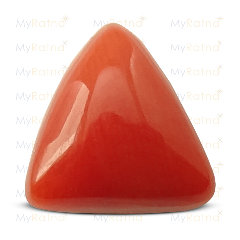 Certified Natural Red Coral 2.96 Ct (Italy) - Prime - MyRatna