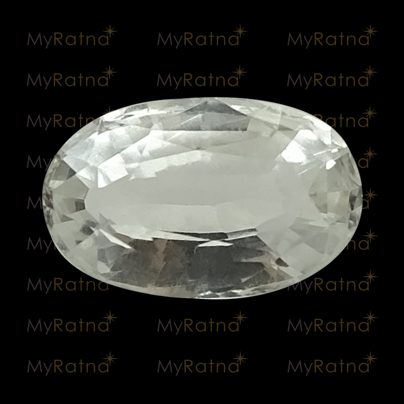 Certified Natural White Topaz 3.02 Ct - Prime - MyRatna